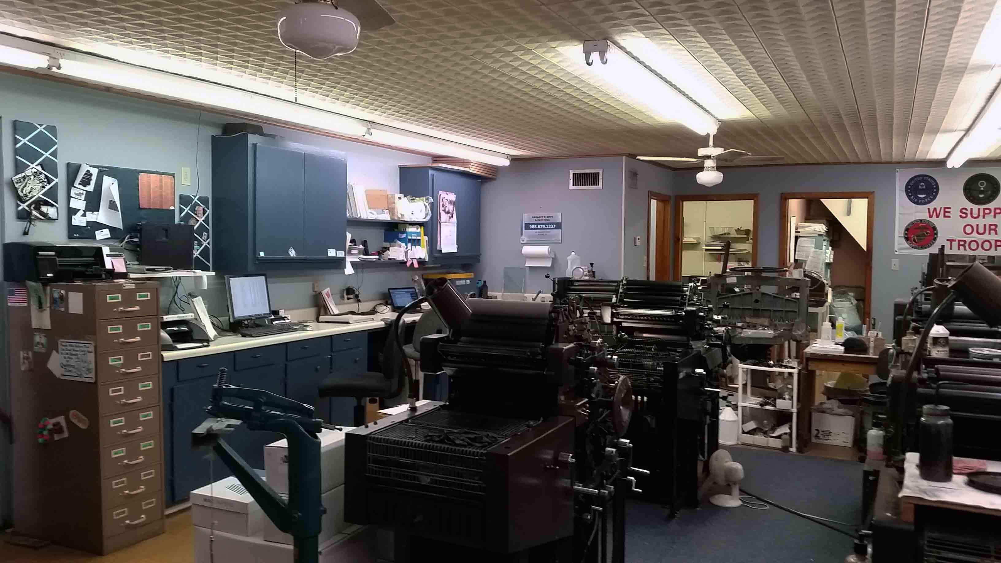 The printing shop inside of Raganit